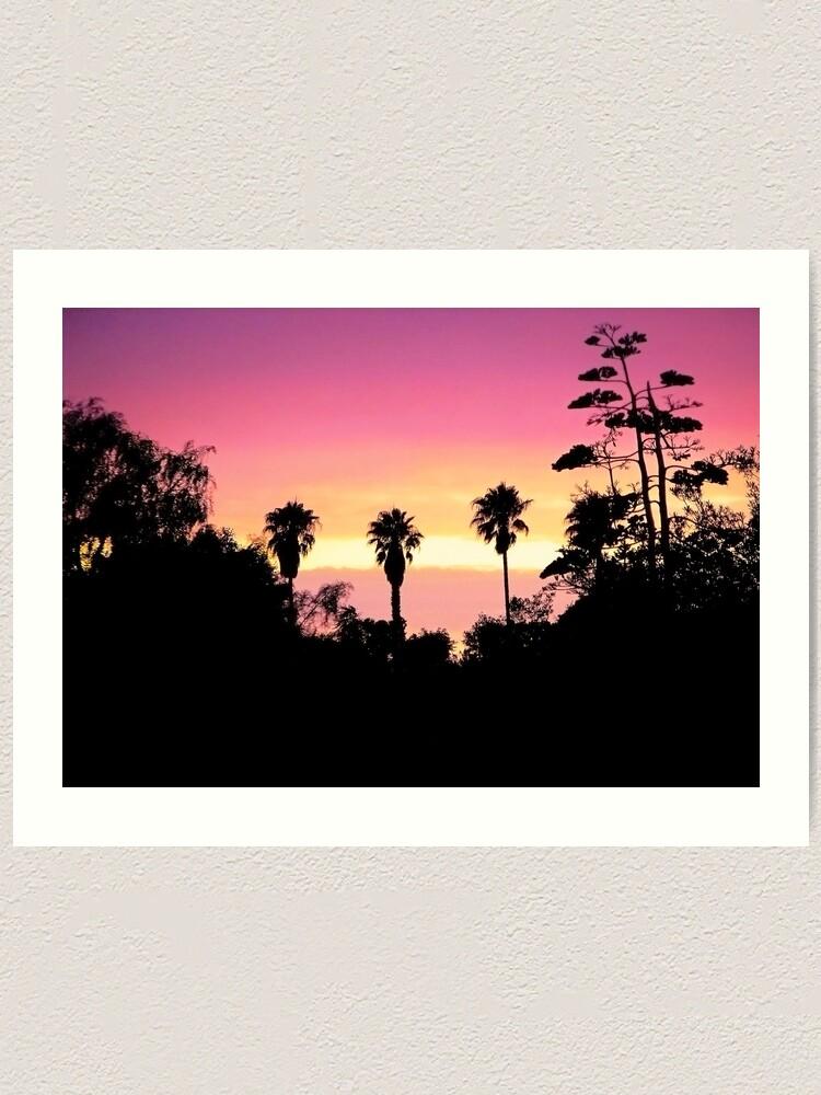 Alternate view of Backyard Sunset Art Print