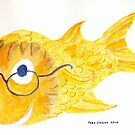 Happy Fish With Glasses by Fred Jinkins