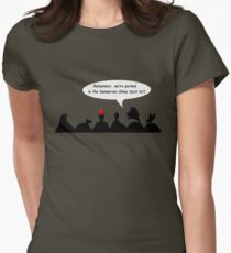 Remember where we parked! Womens Fitted T-Shirt