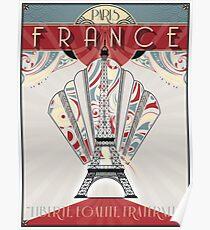 Paris, France - Travel Poster Poster