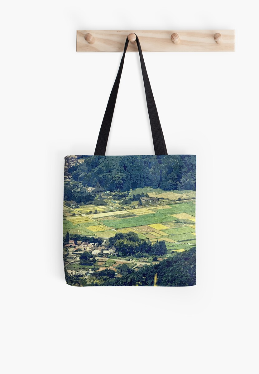 Rural Japan Rice Fields Forest Countryside Village by Beverly Claire Kaiya