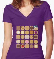 Biscuits Women's Fitted V-Neck T-Shirt