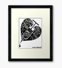 Love Flux Framed Print