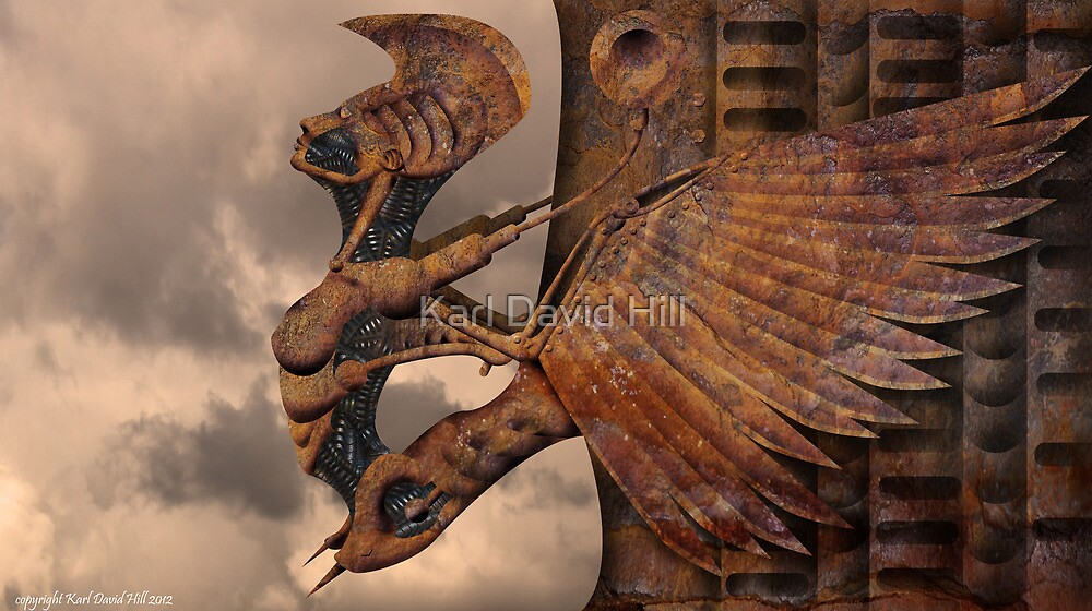 Rusted wings 001 by Karl David Hill