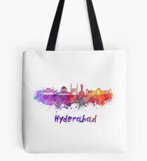 Hyderabad skyline in watercolor Tote Bag