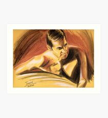 Richard Armitage, John Porter, sanguine Art Print