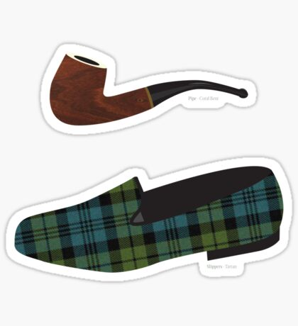 Pipe and Slippers Sticker