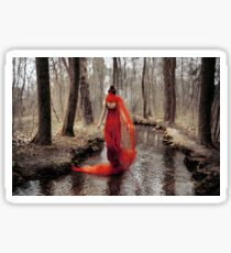 red dress in the river Sticker