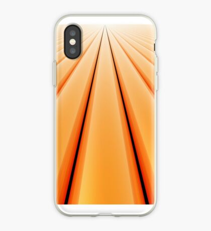 Vanishing Point, Orange for iPhone iPhone Case