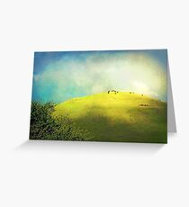 Cows on a Hill Greeting Card
