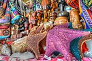 Colorful starfish at the Straw Market in Nassau, The Bahamas by Jeremy Lavender Photography