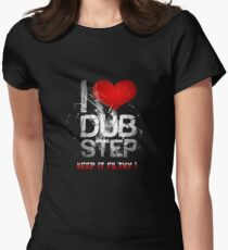 I Love Dubstep Women's Fitted T-Shirt