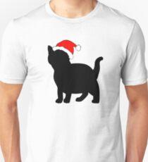 Kitten in a Santa Hat Unisex T-Shirt