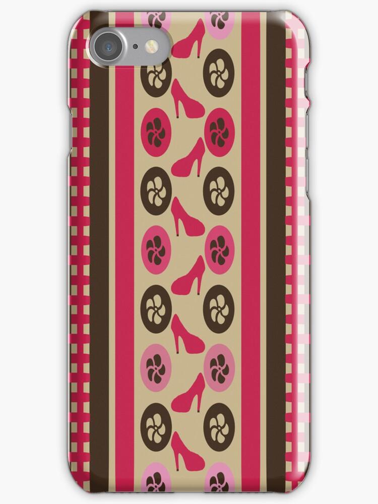 Chocolate Raspberry Flirty iPhone/iPod Case by Terri Chandler