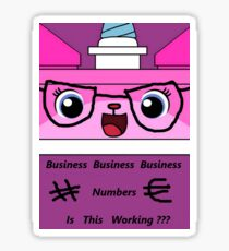 Business Unikitty Sticker