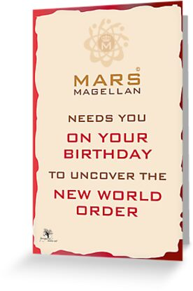 Mars Magellan New World Order Birthday Card