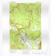 USGS Topo Map Washington State WA Snoqualmie 243847 1953 24000 Poster