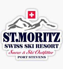 St.Moritz - Swiss Alps Sticker