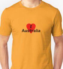I Love Australia - T-Shirt & Sticker T-Shirt