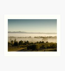 Morning Fog at Mudgee Homestead Guesthouse - Mudgee Art Print