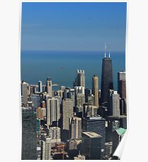SkyScape of Chicago's Hancock building Poster