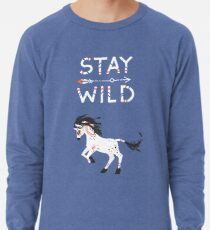 Bleib wild Leichter Pullover