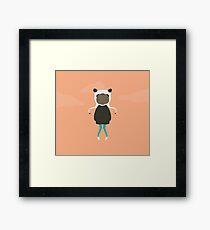 Gracie in Orange Framed Print
