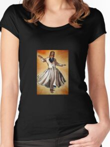 Semasen - Sufi Whirling Dervish Women's Fitted Scoop T-Shirt