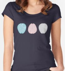 Brainy Pastel Pattern (Awesome Pastel Brains) Women's Fitted Scoop T-Shirt