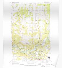 USGS Topo Map Washington State WA Dartford 240783 1973 24000 Poster