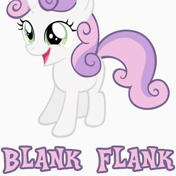 Sweetie Belle Blank Flank by Coffey