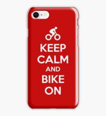 Keep Calm and bike on iPhone Case/Skin