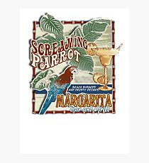 screaming parrot beach bar Photographic Print