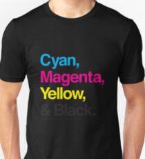 Cyan, Magenta, Yellow & Black T-Shirt