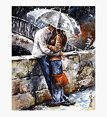 Rainy day 18 - Love in the rain Photographic Print