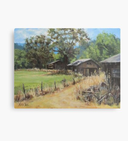 """""""On the Ranch"""" Metal Print"""