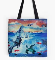 There is beauty above and below, watercolor Tote Bag