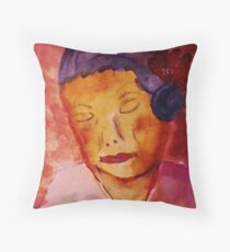 Grace while growing old, watercolor Throw Pillow