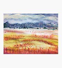 The Grasslands, watercolor Photographic Print