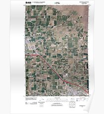 USGS Topo Map Washington State WA Grandview 20110407 TM Poster