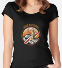 THE RINCON, QUEEN  OF THE COAST Women's Fitted Scoop T-Shirt