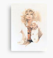 """""""Belinda"""" Oil On Canvas Metal Print"""