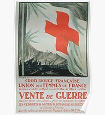 Croix Rouge française Union des Femmes de France Vente de guerre Poster