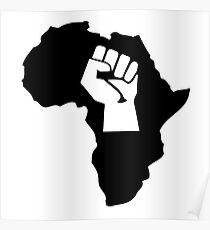 africa afrique fist revolution Poster