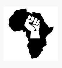 africa afrique fist revolution Photographic Print