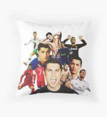 Cristiano Ronaldo collage Throw Pillow