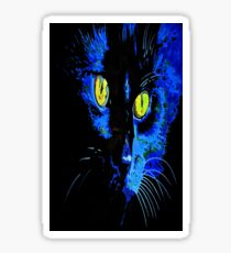 Marley The Cat Portrait With Striking Yellow Eyes Sticker
