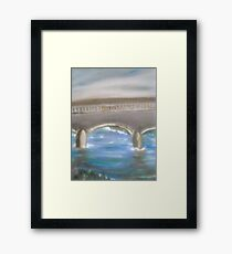 Pavia Covered Bridge - En Plein Air Painting Framed Print