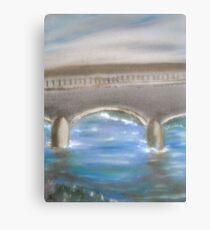 Pavia Covered Bridge - En Plein Air Painting Canvas Print