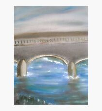 Pavia Covered Bridge - En Plein Air Painting Photographic Print